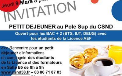 Petit Déjeuner Licence