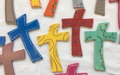 Bénédiction des croix au Collège