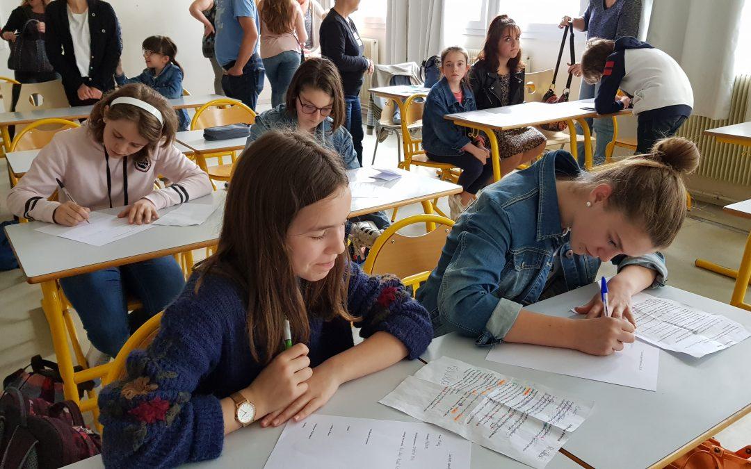 «Lecture sans frontières 2018» pour les élèves d'Allemand du Collège