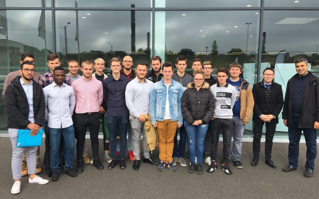 Visite des BTS MV de la concession Audi à Nevers