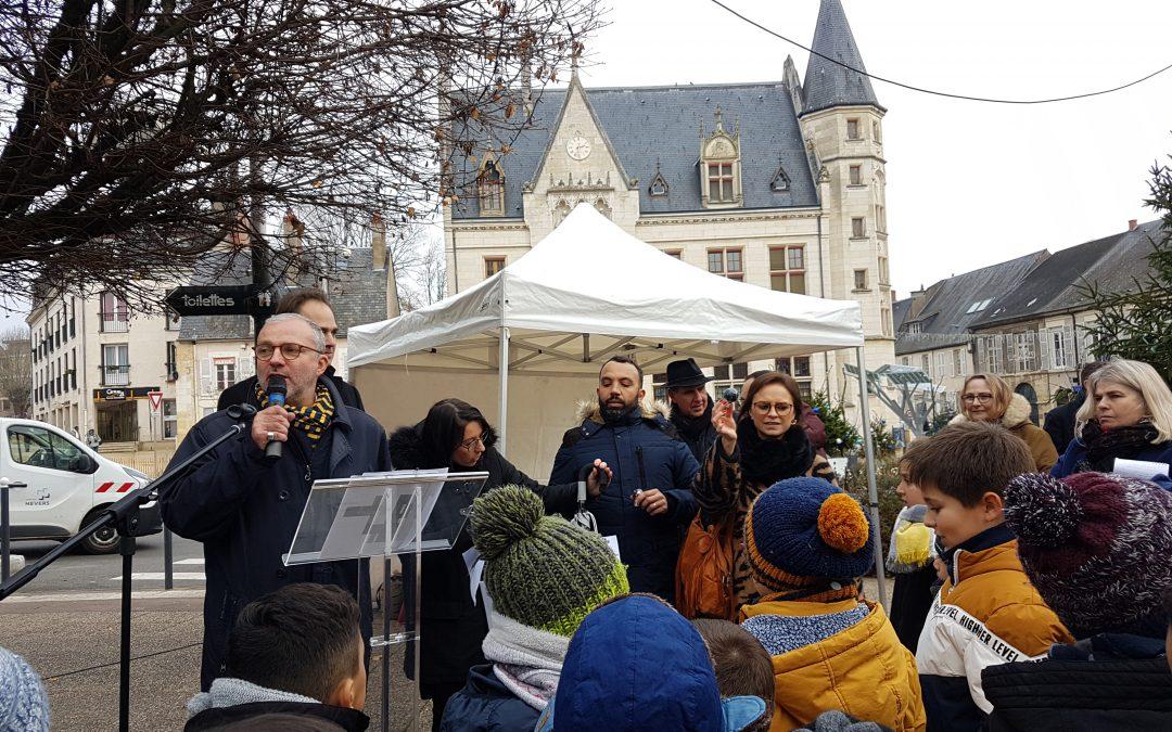 «Une lumière, un citoyen» organisée par la ville de Nevers.