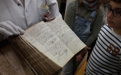 Visite aux archives départementales
