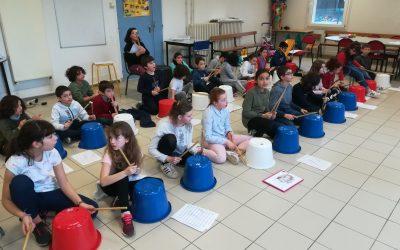 Atelier percussion à l'école (Montapins)